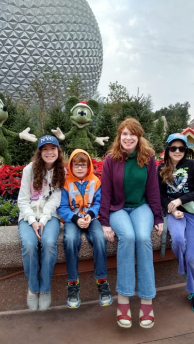Cold weather at Epcot in Disney Worl