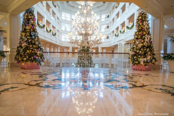 Grand floridian lobby at Christmas time