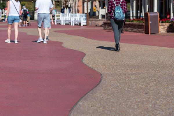 People walking in Disney World