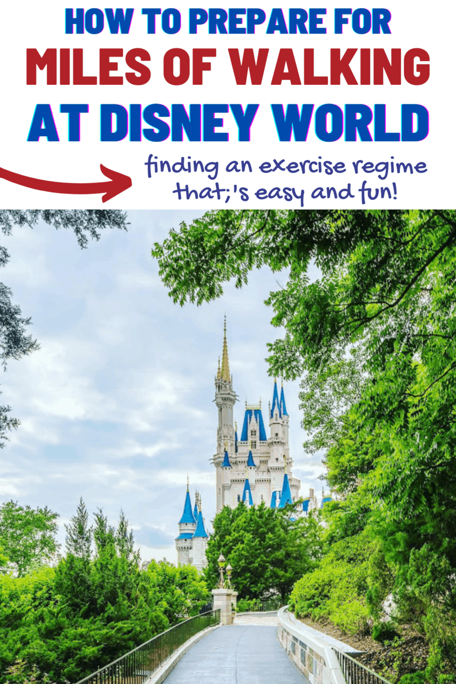 Preparing for walking at Disney World