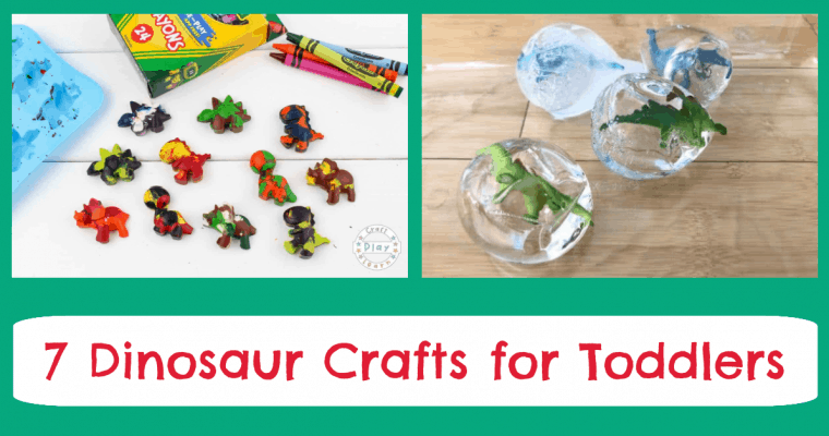 7 Dinosaur Arts & Crafts for Toddlers and Preschoolers