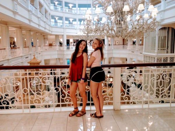 Teen girls at Disneys Grand Floridian resort