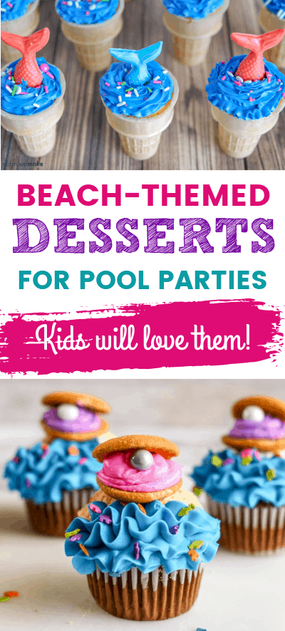 Ocean themed snacks and desserts for kids
